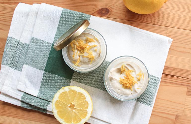 Mousse de limão Vegan