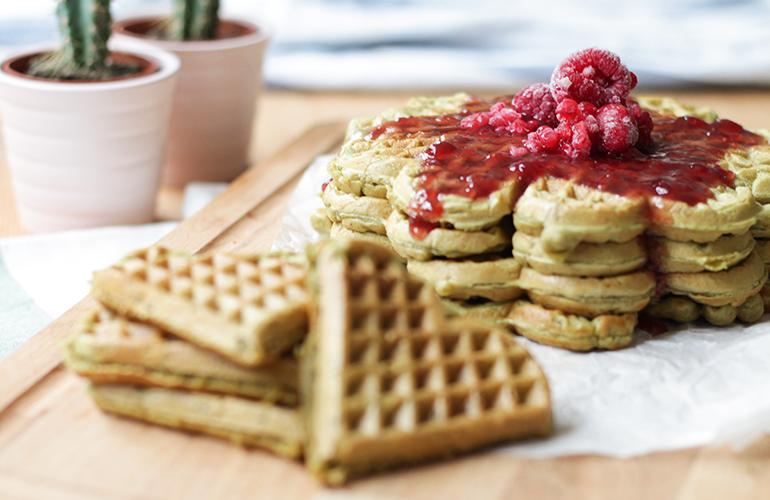 Vegan Matcha Waffle