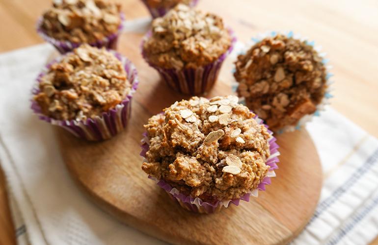 Muffins de Crumble de Maçã